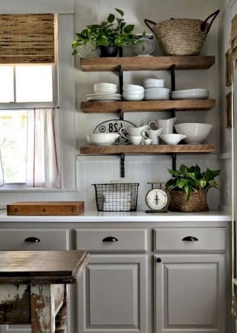116 Stunning Modern Rustic Farmhouse Kitchen Cabinets Ideas